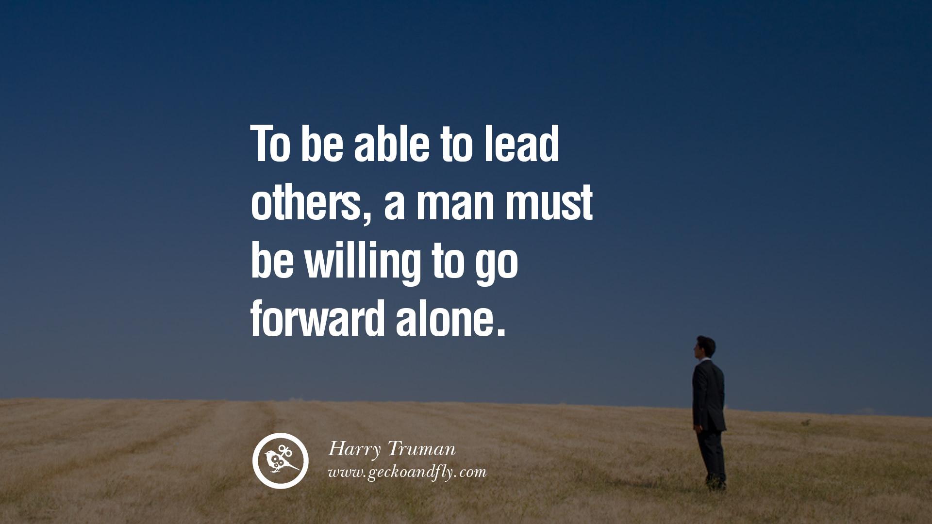 lyderystė ir vienatvė trumano citatoje
