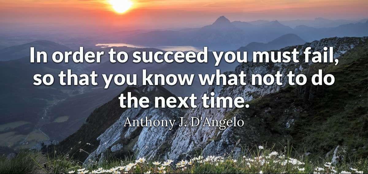 siekiant sėkmės privalu klysti